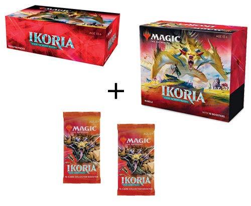 MTG Magic The Gathering Ikoria Lair of Behemoths Booster Box, Bundle, 2 Collector Packs