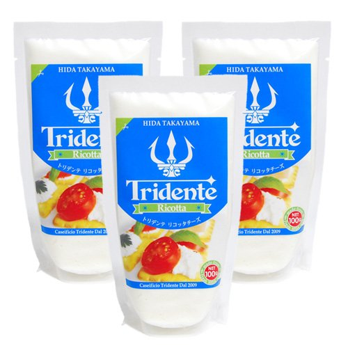 Tridente (トリデンテ) 飛騨高山産 リコッタチーズ 100g レシピ付き (リコッタチーズ 100g×3個)