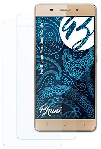 Bruni Schutzfolie kompatibel mit Gionee Marathon M5 lite Folie, glasklare Bildschirmschutzfolie (2X)
