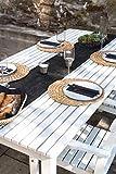 100% Mosel Vlies Tischläufer, in Schwarz (30 cm x 25 m), dekoratives Tischband aus Stoff, edle Tischdeko für Geburtstage & Hochzeiten, bunte Dekoration zu besonderen Anlässen - 5