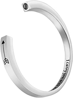 Dletay Urn Bracelet for Ashes Cremation Jewelry Memorial Ashes Keepsake Openable Cuff Bangle Bracelet