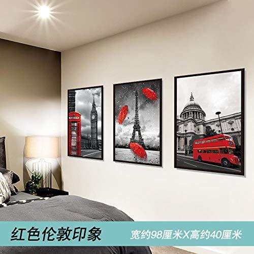 Persönlichkeit Wandaufkleber Schlafzimmer Nachttisch dekorative Aufkleber dekorative WandRot London impression_Big