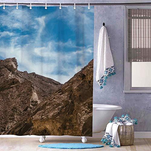 No Brand Duschvorhänge | Wasserdicht | Anti-Schimmel | mit 12 Ringen Grand Canyon White Cloud Blue Sky Wasserdicht Anti-Schimmel Polyester Stoff Badezimmer Dekor