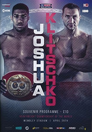 Matchroom Boxing Anthony Joshua Vs Wladimir Klitschko Offizielles Programm