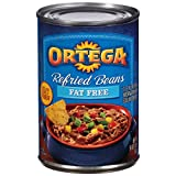 Ortega Refried Beans, Fat Free, 16 Ounce (Pack of 12)...