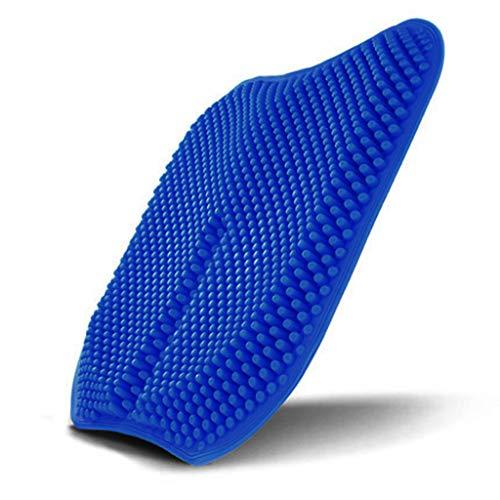 KANGMOON 💕💕Bienenwaben Silikon Sitzkissen, Schmerzlinderung Ermüdungs Kissen, Sommer-Kühler Breathable Rollstuhl, Auto Und Büro-Stuhl-Kissen (Blau)