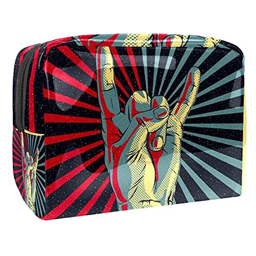 Kosmetiktasche Pop-Art-Handgeste Kulturbeutel Reise Make Up Tasche wasserdichte Organizer Multifunktions für Make-up Pinsel Lidschatten Lippenstifte 18.5x7.5x13cm