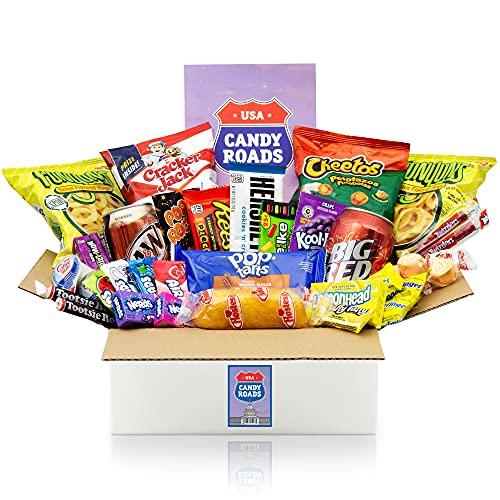 getDigital Candy Roads USA Box - Über 30 amerikanische Süßigkeiten, Snacks & Getränke in einer XXL Jumbo Geschenkbox - Süßigkeiten aus aller Welt Mystery Box