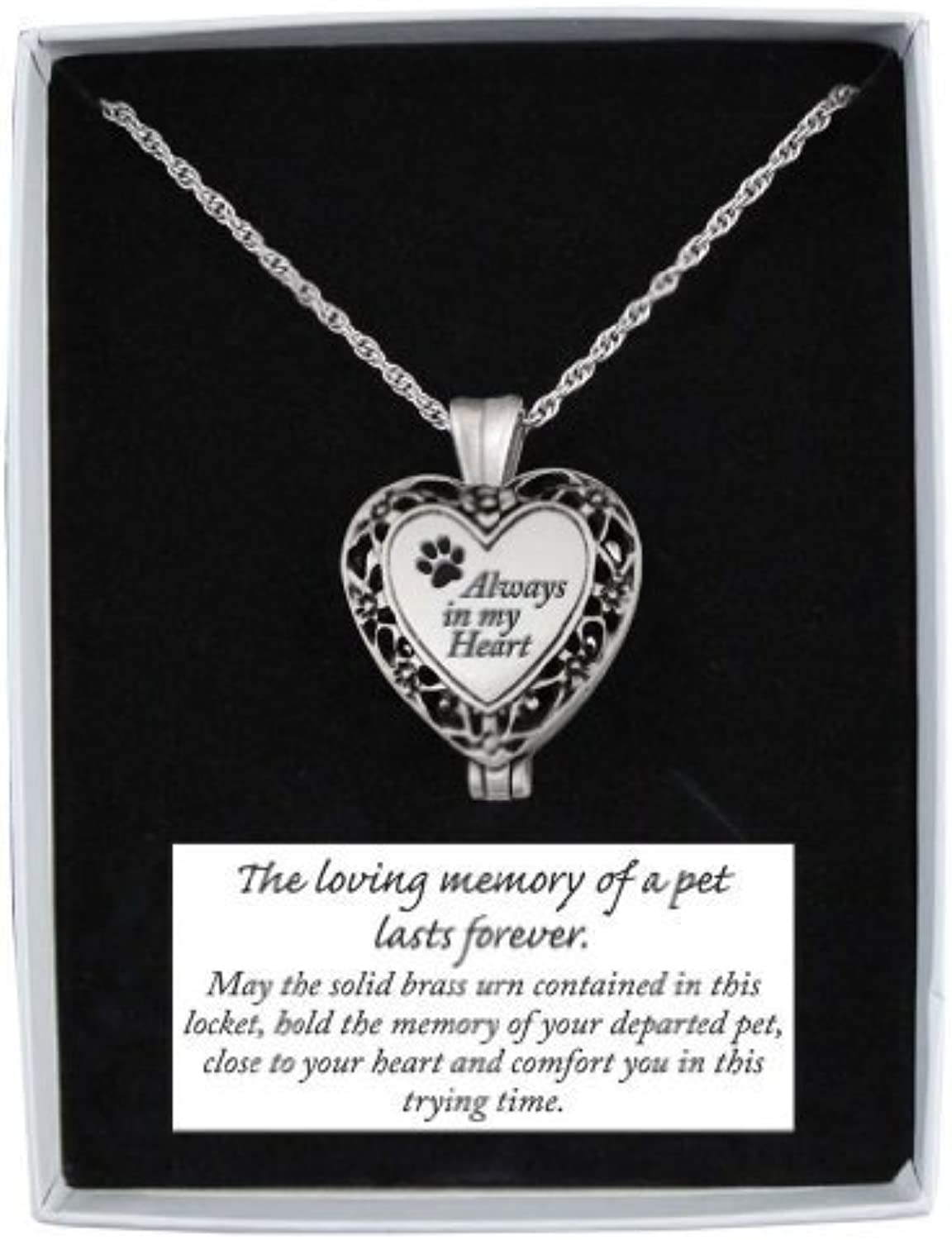 Cathedral Art Pet Memorial Urn Locketheart Shapedsilver Tone Filigree by Cathedral Art