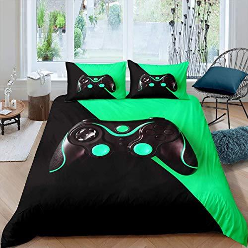 Juego de ropa de cama para niños, adolescentes, acuarela y béisbol, juego de cama con 2 fundas de almohada, 3 piezas, color negro, blanco