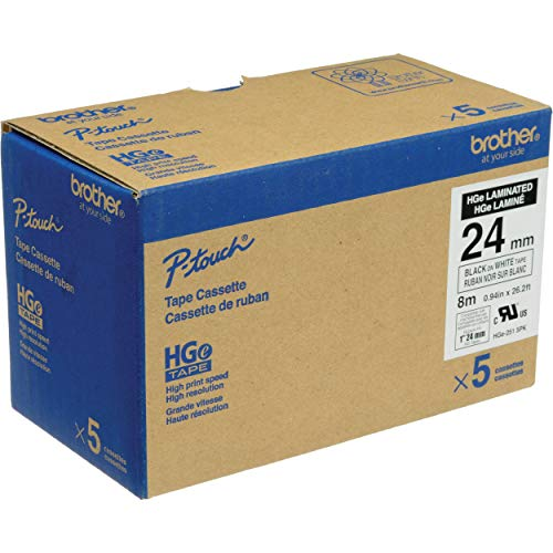 "Brother Mobile HGE2515PK Hge High Grade Standard Adhesive Tape, 0.94"" W x 26.2"