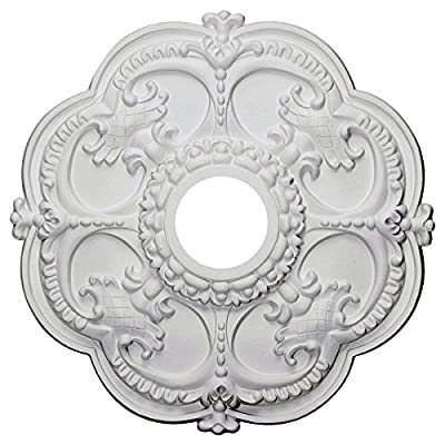 """Ekena Millwork CM17ROACS Rotherham Ceiling Medallion fits Canopies up to 3 1/2"""", Antique Copper"""