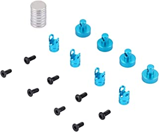 8pcs//pack Invisible Magnetic Body Post Mount for RC Car Part Kit Black