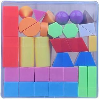3D Shapes Miniature Set, Geometry mathematics teaching aids,Three dimensional geometric model,Large Geosolids Plastic Shapes