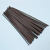 zxxin-耐久性のある溶接棒, プラスチック溶接棒、溶接電極車バンパー修理キット、プラスチック溶接バンパーフェアリングスティックポリエチレン (Diameter : Black 50pcs)