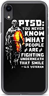 Compatible for iPhone XR PTSD Us Veteran Inspirational Quote Graphic Design