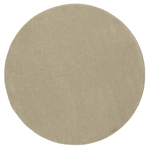 Mia´s Teppiche Emma - Alfombra de salón (Pelo Corto, 17 mm, 120 cm, Redonda, Polipropileno, 17 cm), Color Crema
