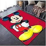 ZRY Alfombra Roja Festiva Animación Dibujos Animados Disney Mickey Mouse Alfombra Habitación De Los Niños Estudio Baño Dormitorio Cabecera Alfombra Rectangular Antideslizante