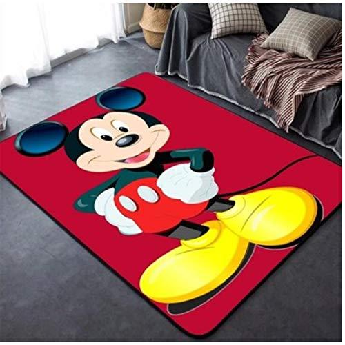 ZRY Alfombra Roja Festiva Animación Dibujos Animados Disney Mickey Mouse Alfombra Habitación...