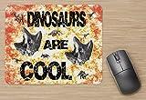 Alfombrilla de ratón con diseño de huella de fósiles de dinosaurio,