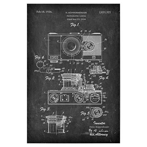 artboxONE Poster 30x20 cm Film Retro Kamera II (Tafel) - Bild antike fotoapparat Blaupause Foto
