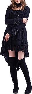 GRACEART Mujer Gótico Lolita Princesa Negro Cordón Vestir con Gargantilla