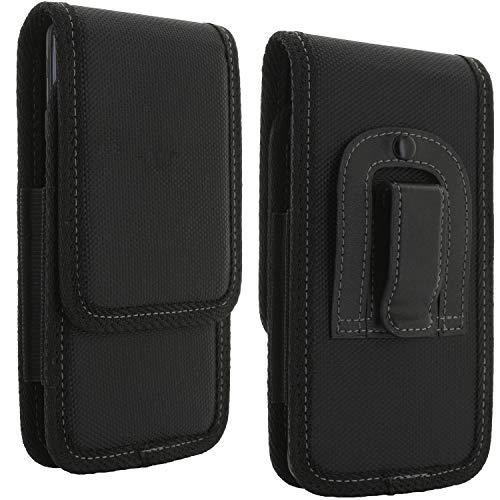 Handy Gürteltasche mit Clip - 5XL V4 Tasche passend für LG K50s / Nokia 5.3 / Samsung Galaxy A21s A70s A71 / Xiaomi Redmi Note 8t 9s / 8 Pro / 9 Pro - Gürtel Smartphone Handytasche schwarz