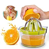 Lemon Squeezer, Citrus Juicer Multifunctional Manual Juicer With Built-In Measuring Cup And Chopper