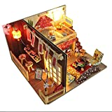Macro PTUYZHYX Mini Modelo DE Montaje DE Mini Loft, Kit de muñecas de Madera de DIY Miniatura Regalo Hecho a Mano para artesanía con Luces