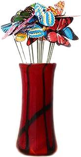 FZBNSRKO 50 قطعة أوتاد فراشة، مضادة للماء فراشات أوتاد حديقة الحلي لوازم الحفلات الفراشة وساحة الزينة الزينة للديكور الخار...