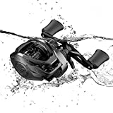 Cadence CB5 Baitcasting Reels Lightweight Graphite Frame Fishing Reels with 8 Corrosion Resistant Bearings Baitcaster Reels Carbon Fiber Drag Baitcast Reels with 6.6:1 Gear Ratio Casting (CB5-R66)