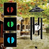 Generic Solar Power Wind Chime Colorful Led Light Garden Courtyard Balcony Decoration Lamp