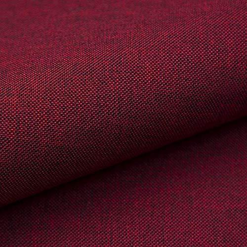HEKO PANELS Torino Polsterstoff Möbelstoff Meterware - z.B. Stoff für Stühle oder Eckbank Bezug - Bordeaux Rot