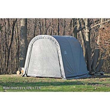 ShelterLogic 8x12x8 Round Style Shelter, Grey Cover 76813