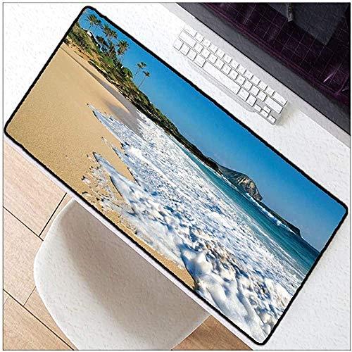Alfombrilla de ratón Hermoso paisaje de playa Ver Alfombrilla de ratón Alfombrilla de goma antideslizante para juegos Apto para cibercafés de oficina en casa A2182Tappetino per mouse Bellissimo scenar