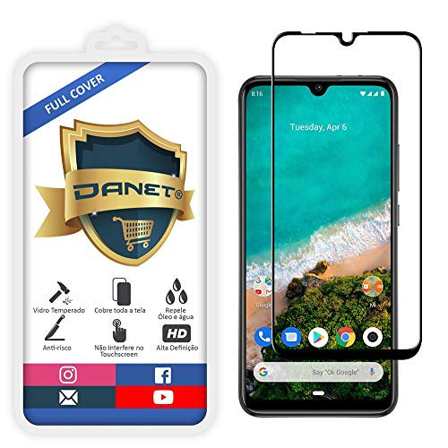 Película De Vidro Temperado 3D Full Cover Para Xiaomi Mi A3 Com Tela De 6.08 - Proteção Blindada Top Premium Que Cobre Toda A Tela - Danet