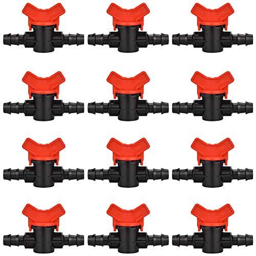 LYTIVAGEN 12 Pezzi Rubinetto da Giardino in Plastica Valvola Interruttore Tubo per Irrigazione del Giardino (16 * 16MM)