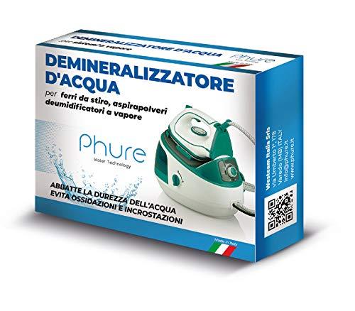 PHURE Demineralizzatore Acqua Antibatterico Filtro Demineralizzante Universale Acqua Distillata per ferri da stiro, aspirapolveri a vapore, deumidificatori e diffusori.