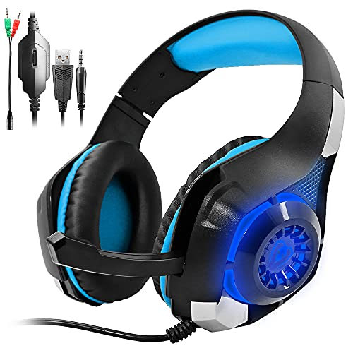 GM-1 Headphones Compatible PS4 Pro PC Tablet Cellphone,AFUNTA Stereo LED...