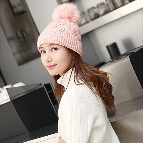 MONEYY Chapeau Fille Hiver marée Corée du Sud Automne Chapeau d'hiver Lady Cent Lap Bonnet Version coréenne Casquette d'oreille, B