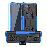 Moto G 5G Case,Motorola One 5G Ace Case,with HD Screen Protector,SKTGSLAMY [Shockproof] Tough Rugged Dual Layer Protective Case Hybrid Kickstand Cover for Motorola Moto G 5G (Blue)