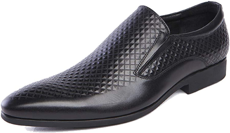 Männer Leder Schuhe Geschäft Faul Schuhe Breathable Breathable Breathable Bequeme Geschnitzte Rubber B07HN4M8P2  1bea16