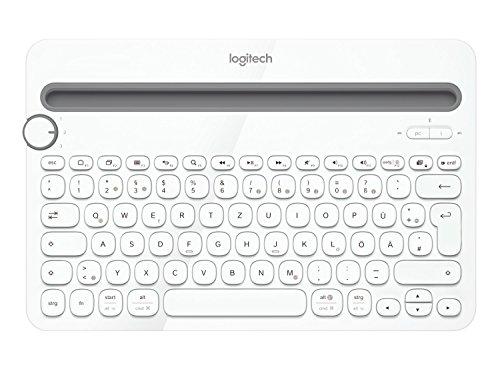 Logitech K480 Kabellose Bluetooth-Tastatur für Computer, Tablet & Smartphone, Multi-Device und Easy-Switch Feature, Kompaktes Design, PC/Mac/Tablet/Smartphone, Deutsches QWERTZ-Layout - weiß