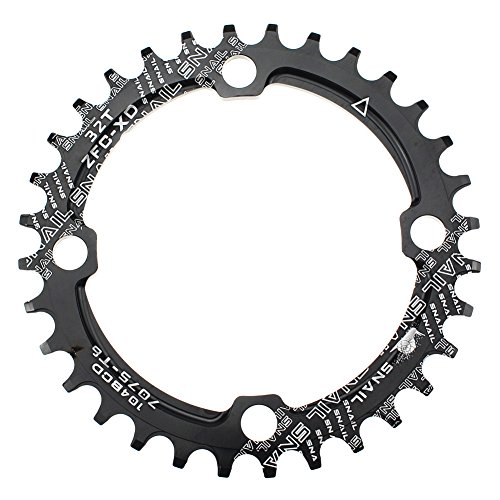 CYSKY 32T Schmale Breite Kettenblatt 104 BCD Einzelkettenblatt mit 9 10 11 Geschwindigkeit für Rennrad Mountainbike BMX MTB (32T)