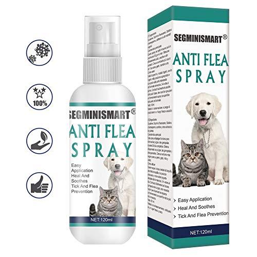 SEGMINISMART Pulgas Spray,Flea Spray,Anti pulgas,Spray de