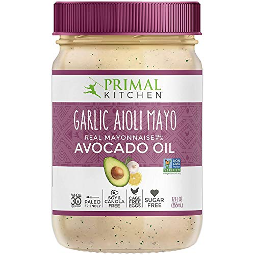 Primal Kitchen, Garlic Aioli Mayo with Avocado Oil, 12 Fl Oz (Pack of 1)