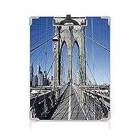 個性的 キングジム:クリップボード カラー A4判タテ型 アメリカ合衆国 アイデア多機能メニュー ゴシックブルックリン橋ニューヨーク市の有名な都市アメリカアメリカの風景ライトブルーグレー