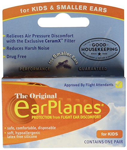 Earplanes Childrens Ear Plugs Disposable For Flight Sound...