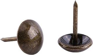 100 Stks Vintage Bekleding Nagels Ronde Big Headed Brons Metalen Tags Meubels Sofa Schoen Deur Tack Stud (Gladde 11 * 17mm...