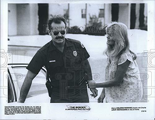 Imágenes históricas 1982 Prensa Fotografía Valerie Perrine, Jack Nicholson, La Frontera